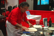 Making Pizza For Caputino At A Food Show