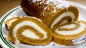 Pumpkin Roll With Cheese Filling