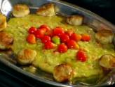 Creole Polenta With Seared Scallops