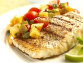 Seared Salmon With Persimmon Salsa
