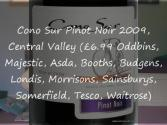 Tasting Of Chilean Pinot Noirs