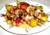 Garlic Shrimp and Pineapple Kabobs