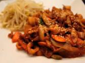 Korean Food: Spicy Fried Squid (오징어 볶음)