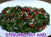 Fresh Spinach Strawberry Pecan Salad