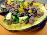 Meat Stuffed Acorn Squash