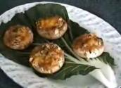 Cheesy Stuffed Button Mushrooms