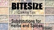 Substitutions For Herbs & Spices - An Overview