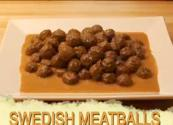 Swedish Meatballs With Applesauce
