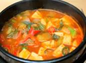 Korean Food: Tofu Soybeanpaste Soup ( )