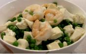 Fried Tofu With Peas And Shrimps