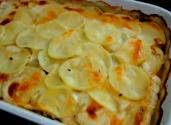 Truffled Mushroom And Potato Gratin With Sottocenere Cheese