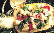 Lobster Salad In Pineapple Shells