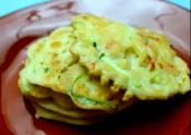 Korean Food: Zucchini Fritters (호박전=hobak Jeon)