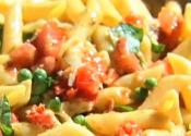 Penne With Fresh Tomato And Anchovy Sauce : Penne With Fresh Tomato And Anchovy Sauce