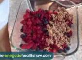 Almond And Berry Crumble