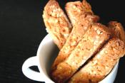 Salted Chocolate-dipped Almond Biscotti