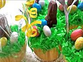 Easter Basket &quot;springtime&quot; Cupcakes (almond Vanilla Cupcake Recipe) 