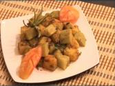 Aloo Lauki - Bottle Gourd And Potato Vegetable