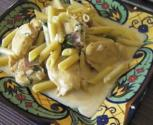 Amaretto Chicken Medallions With Penne