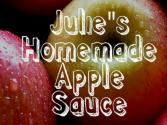 Julie&#039;s Homemade Apple Sauce