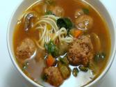 Asian Style Meatball Noodle Soup