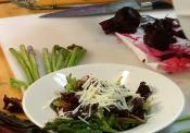Jumbo Asparagus And Red Beet Salad