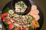 Baba Ganouche With Green Salad