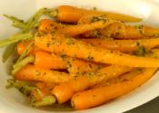 Baby Carrots Glazed In Orange And Parsley Butter