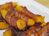 Bacon Wrapped Maple Glazed Roasted Butternut Squash