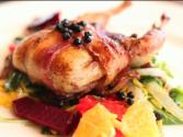Bacon Wrapped Quail Stuffed With Dates