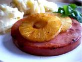 Baked Ham Steak With Hot Mustard Fruit