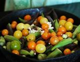 Southern Style Baked Okra And Cherry Tomatoes