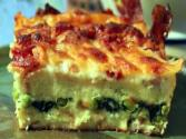 Brunch Strata With Arugula & Pear Salad