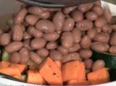 Baked Sweet Potato With Pinto Beans