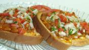 Open Faced Crab And Tomato Sandwiches