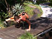 Advanced Yoga Demo In Bali With Dashama