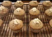 Banana Cupcakes With Honey Vanilla Frosting