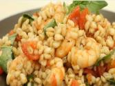 Barley Salad With Anchovies, Shrimps And Tomatoes