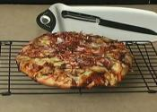 Pan Grilled Barbeque Chicken Pizza