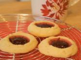 Raspberry Thumbprint Cookies: Cookie Jar