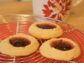 Raspberry Thumbprint Cookies: Cookie Jar