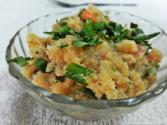South Indian Breakfast - Green Beans And Carrot Upma