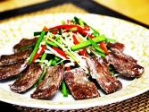 Korean Food: Fried Beef And Garlic Chive Salad