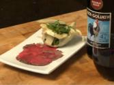Beef Carpaccio With Apple And Arugula Salad