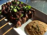 Beef Satay With Peanut Sauce - Rib Eye Steak Satay