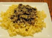 Egg Noodles And Beef Stroganoff