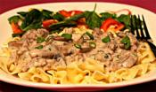 Beef Stroganoff Using Dry Red Wine