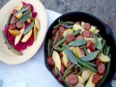 Beer Glazed Sausage And Apples