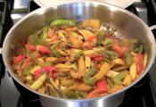 Indian Bell Pepper And Potato Stir Fry