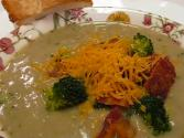 Betty&#039;s Bacon And Cheddar Topped Broccoli Soup